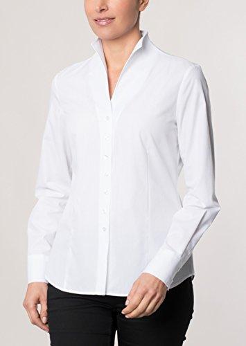 Michaelax-Fashion-Trade - Chemisier - Uni - Manches Longues - Femme Weiß (00)