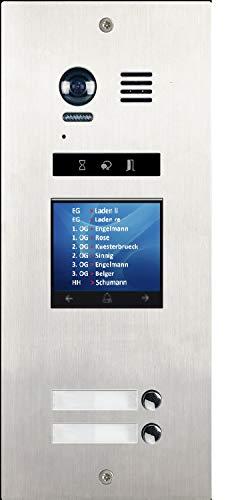Tilt-taste (DMR21/TFT/S2 FE Mehrfamilienhaus mit TFT Monitorl Türklingel Taste Fischauge 170° PAN TILT)