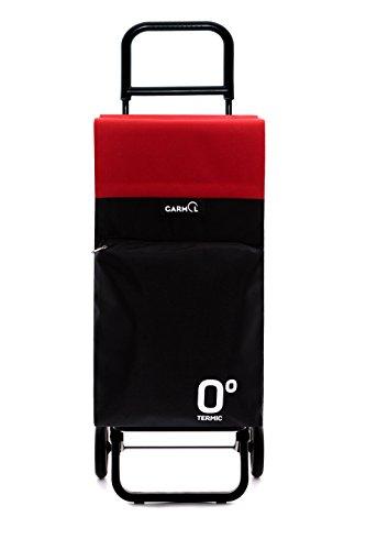 GARMOL 10010tg2 LC C678 Poussette de Marché 2 Roues, Tissu, Noir et Rouge, 39 x 30 x 102 cm