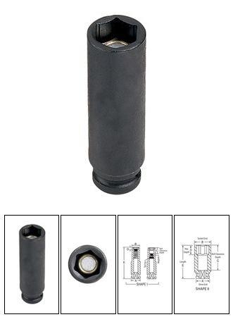 1/10,2cm X 5/40,6cm de profondeur Surface Drive magnétique Douille à impact