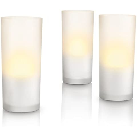 Philips Accents CandleLights - Set de 3 lámparas tipo vela decorativa, iluminación de interior, LED, color