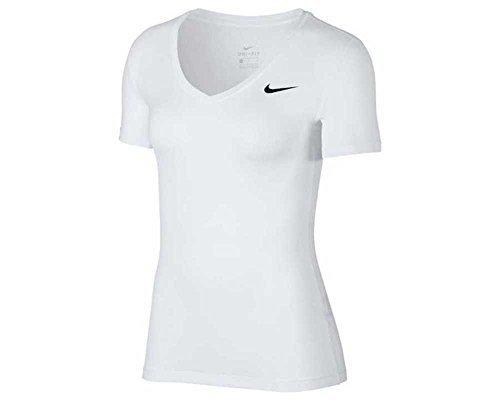 Nike Damen Victory Kurzarm Dri-fit T-Shirt, Weiß (White/Black/100), Gr. XL
