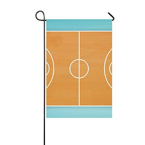 Home Dekorative Outdoor-Fahne, doppelseitig, Basketball-Feldplan, gegen blaue Vignette, Garten-Flagge, Garten-Hof-Dekorationen, saisonale Willkommen-Flagge, 30,5 x 45,7 cm, Frühlings-Sommer-Geschenk