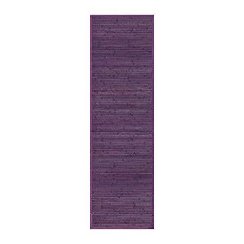 Alfombra pasillera provenzal Lila de bambú de 60 x 200 cm France - LOLAhome