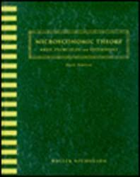 Microeconomic Theory: Basic Principles and Extensions (The Dryden Press series in economics) by Walter Nicholson (1994-06-01)