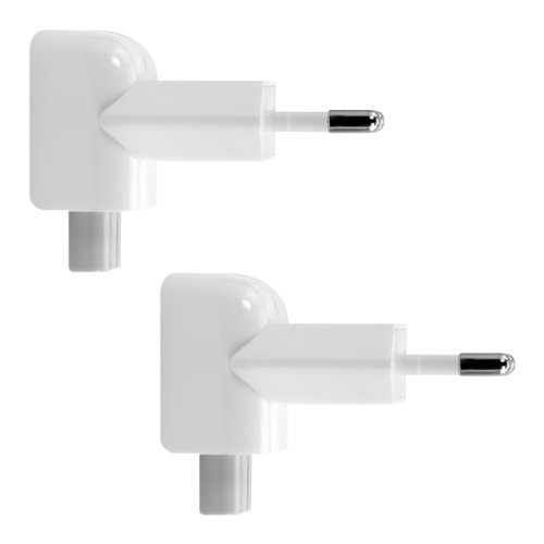 kwmobile 2X Duckhead Adapter für Apple Power-Adapter - EU 2 Pin Power Plug Eurostecker für iPad 10W und 12W und MacBook MagSafe 1 und 2 Ladegeräte -