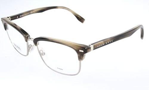 BOSS Hugo Unisex-Erwachsene Hugo Orange Brille Brillengestelle, Grau, 52