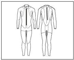 Preisvergleich Produktbild Duathlon Neoprenanzug SWIMRUN RACE Wetsuit 6.4.2MAN