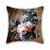 Beautifulseason 18 X 18 Inches / 45 By 45 Cm Oil Painting Van Huysum, Michiel - A Delft Vase With Flowers Cushion Cases ,both Sides Ornament And Gift To Dance Room,car,bench,valentine,father,monther