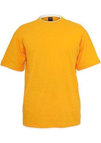 TB029A Contrast Tall Tee T-Shirt ora/wht
