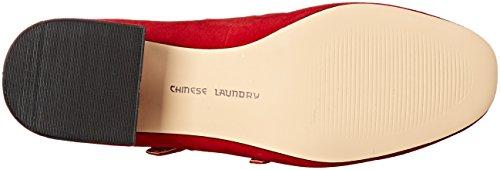 Chinese Laundry Moto Rund Faux Wildleder Stöckelschuhe Red