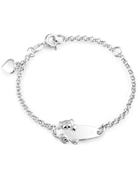 Bling Jewelry Teddy Bear 925 Sterling Silber Baby-ID Armband 5 in