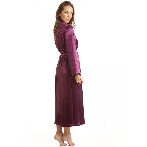 Robe de chambre en satin - femme - Violet - tailles 38 à 52 Violet