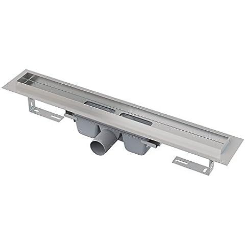 Escurrir canal con rejilla de vidrio templado longitud 550mm instalación de piso