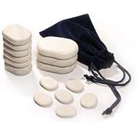 Promafit 15 Cold Stones Massage Therapie-Steine aus Marmor im Stoffbeutel - perfekte Kältetherapie preisvergleich bei billige-tabletten.eu