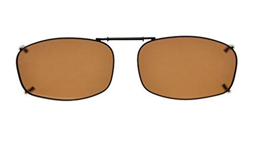 Eyekepper Metallrahmen Felge polarisierte Linse Clip auf Sonnenbrille 54 * 34MM Braun Linse