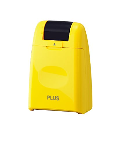 PLUS Japan Guard-Your-ID Camouflage Roller Stamp Yellow Test