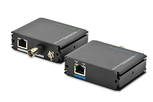 DIGITUS PoE+ Extender Set- Reichweite bei RJ45 bis 400m / bei Coax bis 500m - Fast Ethernet bis 100 MBit/s - Over-ip-adapter