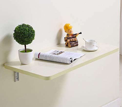 zdz Wandklapptisch Spanplatte Esstisch Wand Schreibtisch Hängend Computertisch Wand Hängend Studiertisch, Weiß Ahorn Farbe (Größe: 100 * 50cm) -