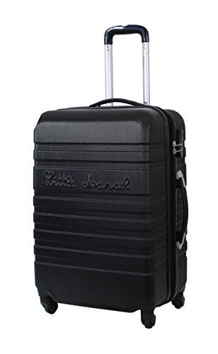 Valise Taille Moyenne 65cm Little Marcel 'Malette' - ABS - 4 roues - Noir