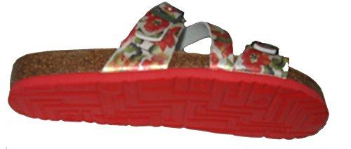 Dr.Brinkmann 700899-4 donna Clogs & mules rosso / cachi
