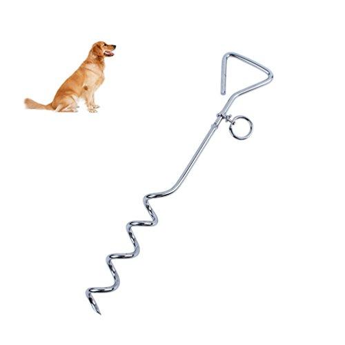 Petacc Anlegepflock Anlegespirale für Hundeleine Bodenanker Hund für Outdoor und Camping, 46cm