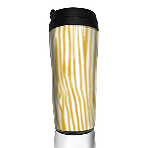 Travel Coffee Mug Grain Mustard Yellow 12 Oz Spill Proof Flip Lid Water Bottle Environmental Protection Material ABS
