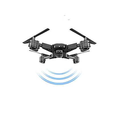 Mini drone Four-axis folding aircraft Air pressure fixed, remote drone trajectory flight function, with VR equipped with in-depth flight experience, highlighting night lights, battery life 20min.