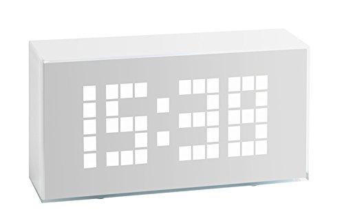 TFA Reloj Despertador Digital LED Blanco diseño