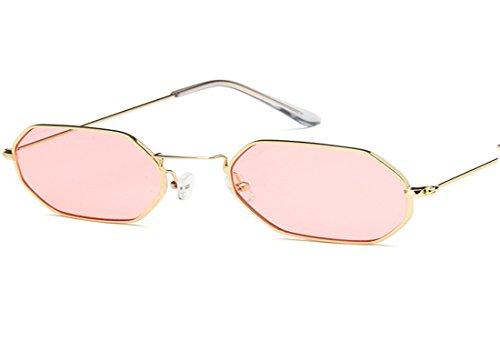 UMCCC Sonnenbrille Kleine Box Street Shoot Retro Mode Wilde Persönlichkeit,Pink