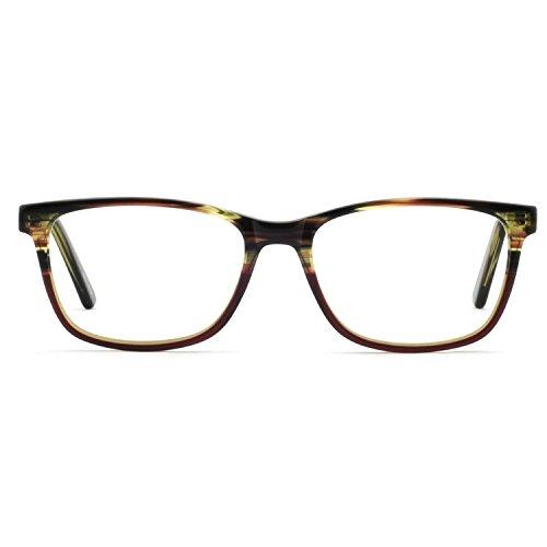 OCCI CHIARI Optische Rahmen Brillengläser Rahmen Fashion eyebrillen Acetat Frame mit elastischen Riemen transparente Linsen für Frauen...