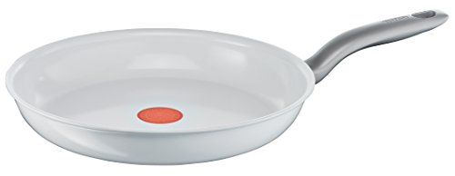 Tefal C90806 Ceramic Control Induction Pfanne 28 cm, weiß Ceramic White
