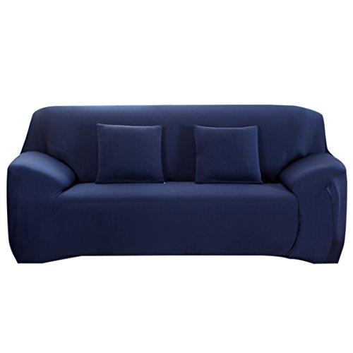 Chlove Sofabezug Elastische Sofa Abdeckung Sofa¨¹berwurf Sesselhusse Stretchhusse (2 Sitzer, 145-185cm, Blau) (Blaue Hussen Für Couch)