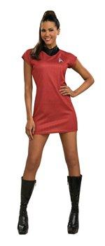 Star Trek Raumschiff Enterprise Kleid rot Uhura Damen Kostüm Gr. S (Sternenflotte Kleid Uniform Kostüm)