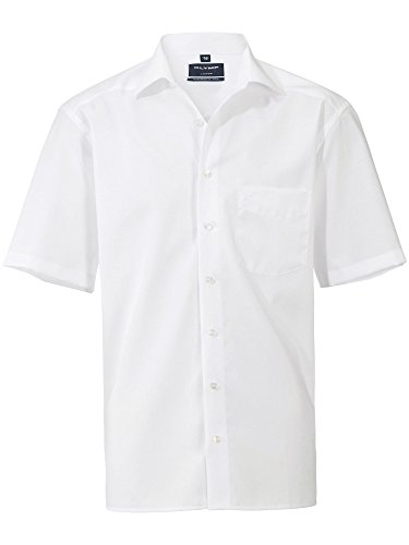 Olymp Luxor Herren Modern Fit Hemd, 0300/12/00, Halbarm, Weiß, 41