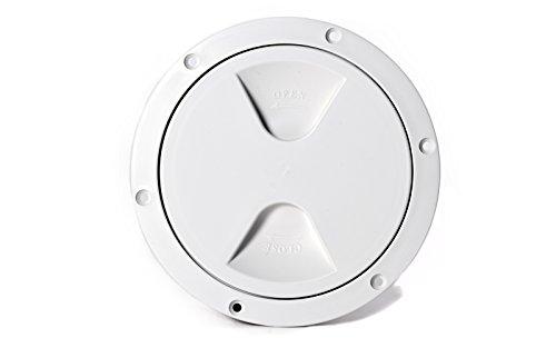wellenshop Inspektionsdeckel Revisionsdeckel Weiß Durchmesser 170 mm