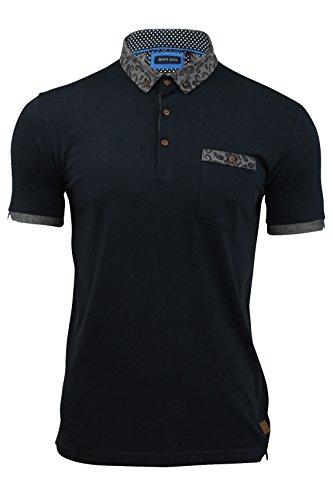 Herren Poloshirt von Brave Soul `Plotinus`kurzärmlig Marine