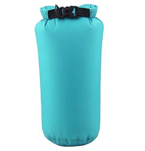 Hosaire 1X Borsa impermeabile Dry Bag 8L Custodia Impermeabile/ Sacca Impermeabile Marsupio/ Sacchetto Impermeabile / Rafting Bag / Borsa da spiaggia /Marsupio Borsa Sacchetto Impermeabile Per Campegg Azzurro