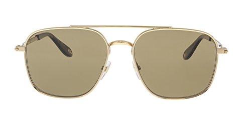 Givenchy gv 7033/s 5v j5g, occhiali da sole uomo, oro (gold/brown), 58