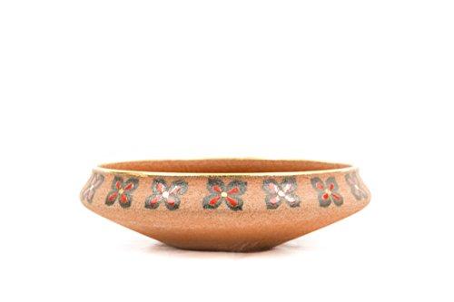 CERAMICHE Liberati Tafelaufsatz Keramik rote Schamotte, Formholz A Hand -