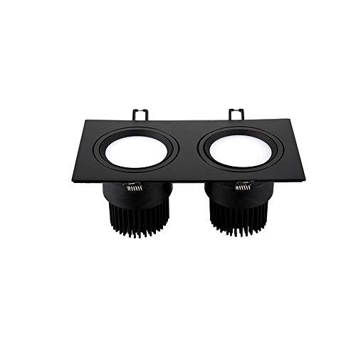 GLBS 14W/30W/60W Hogar Rectángulo Doble Comercial LED Downlight Ajustable Empotrable Parrilla Decoración...