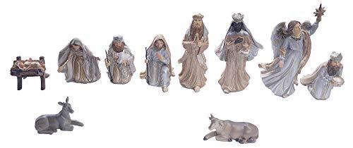 Gilde 21731Antiguo Figuras de belén Juego de 15cm 11Piezas pint