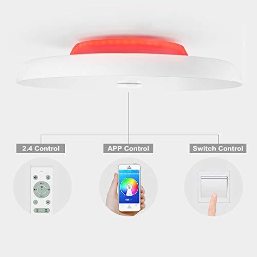 Unterputz-leuchte (SHELLTB LED-Decken-Musikleuchten Lautsprecher mit hoher Klangqualität Bluetooth-Steuerung Dimmbare RGB-Farbtemperatur Einstellbar Runde Unterputz-Leuchte,DIA50cmMusicColor48W)