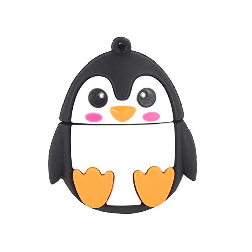 EdBerk74 Kreative Cartoon Penguin Stick Flash Drive Tragbarer USB 2.0 U-Disk-Stick für externen Speicher für Laptops PC Notebook - Usb-64g-laufwerk