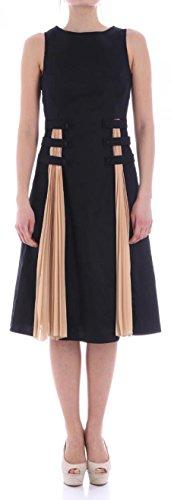 Trussardi abito in cotone 56d00094 black - nude