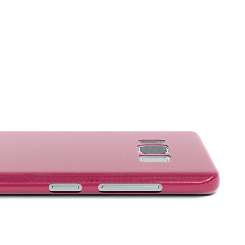 """EAZY CASE Handyhülle für Samsung Galaxy S8 Hülle - Premium Handy Schutzhülle Slimcover """"Brushed"""" Aluminium Design - TPU Silikon Backcover in brushed Rot Brushed Pink"""