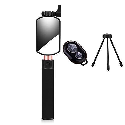 Kapel Selfie Stick Stativ Bluetooth Mini Selfie Monopod Stativ für iPhone X 6s 7 8 Plus Samsung s7 Rand Huawei P10 Plus (Rose Gold)