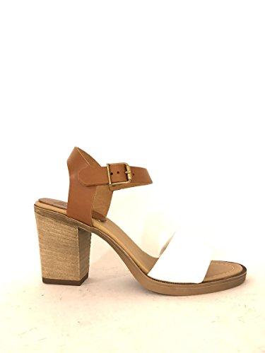 Sandali con tacco in pelle cinturino alla caviglia zeta shoes MainApps Bianco