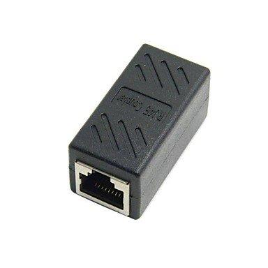 CAT6 RJ45-Buchse auf Buchse LAN-Anschluss Ethernet-Netzwerkkabel Verlängerungsadapter mit Schild