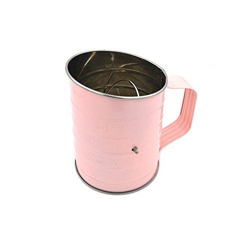 kimberleystore Candy Farbe Handheld Edelstahl Mehl Sieb Bakeware Werkzeug Mehl Sieb Tasse